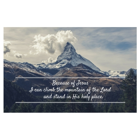 I can climbthe mountain of the Lord_ Who may stand in his holy place_