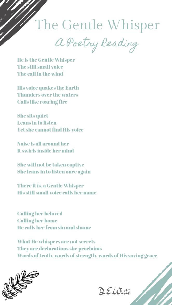 The Gentle Whisper Poetry Reading